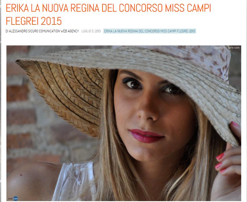 articolo finale Erika vanacore miss campi flegrei 2015 CASERTA alessandro sicuro comunication