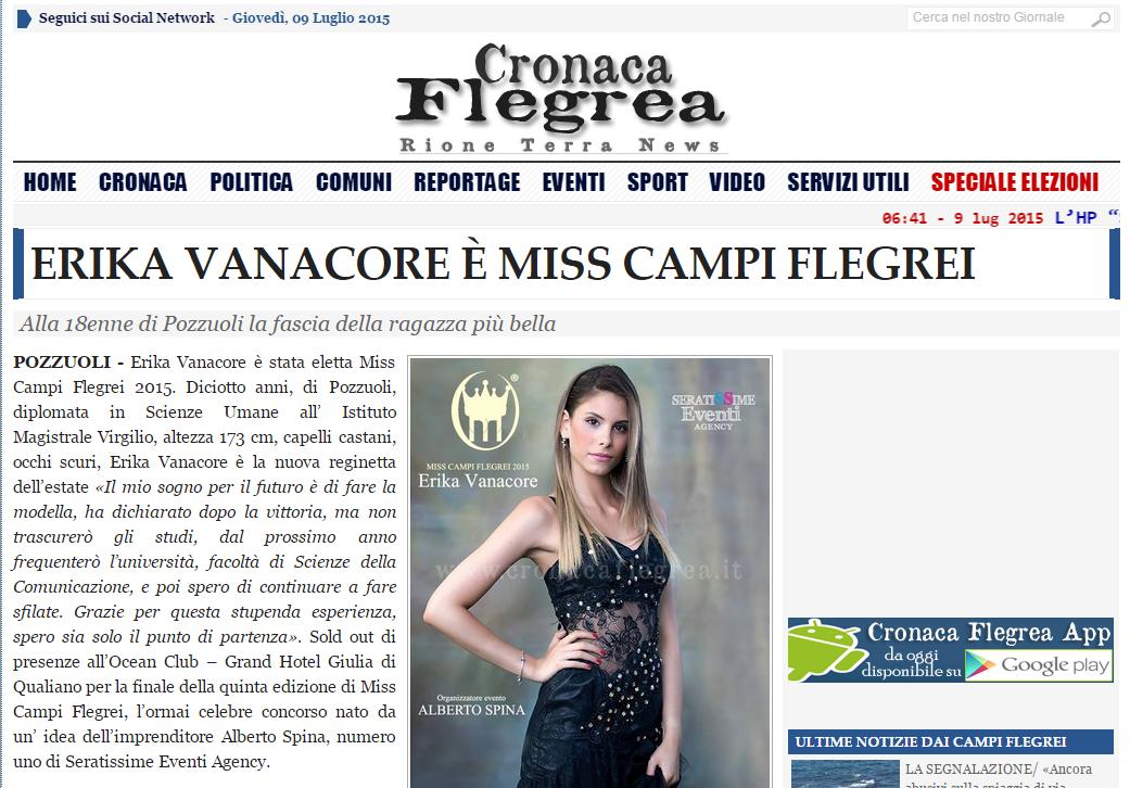 articolo finale Erika vanacore miss campi flegrei 2015 cronaca flegrea