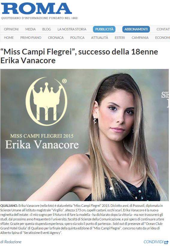 il roma erika vanacore miss campi flegrei 2015
